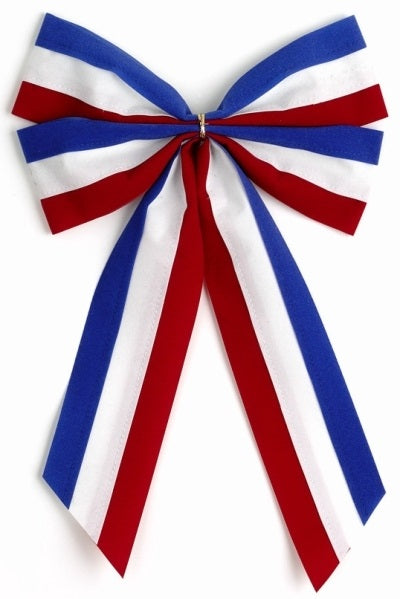 Ceremonial Bows-Red/White/Blue-4 Loops