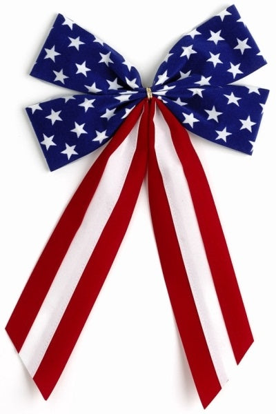 Ceremonial Bows-Red/White/Blue Stars-4 Loops