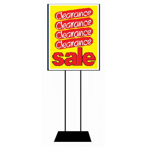 Clearance Retail Sale Sign Posters-Yellow