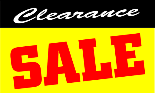 "Clearance Sale- Retail Shelf Signs 11""X 7"""