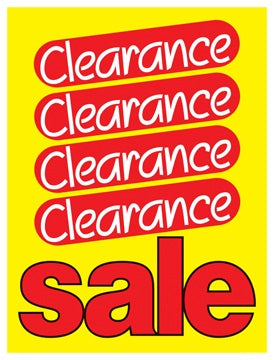 Clearance Sale Retail Shelf Signs-3.5Wx5.5H