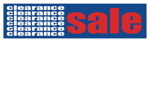 "Clearance Sale Shelf Signs-Price Cards-11"" W x 7"" H -50 signs"