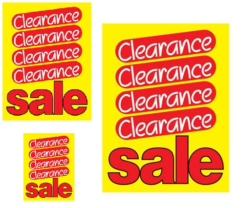 Clearance Sale Retail Sale Event Sign Kit