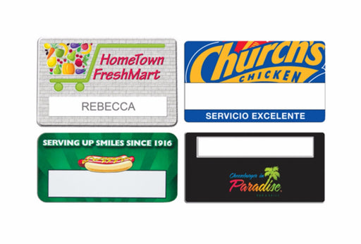 Custom Printed Name Badges, Case Clings, and Magnets