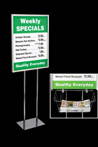 Wire Literature Basket for Floor Stand Sign Holder - screengemsinc