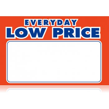 "Everyday Low Price Shelf Signs- Retail Price Cards-11""W x 7""H -100 signs - screengemsinc"