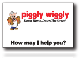 Piggly Wiggly Supermarket -Name Badges -25 pieces