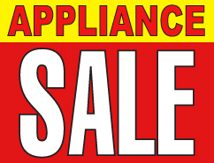 Appliance Sale Counter Top Easel Sign