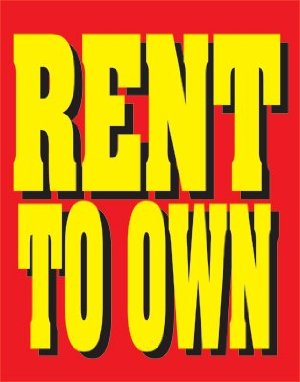 Rent to Own Easel Sign