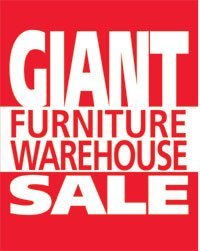 Giant Warehouse Sale Easel Sign