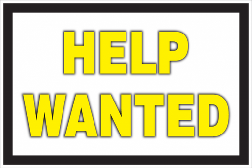 Help Wanted Countertop Easel Sign