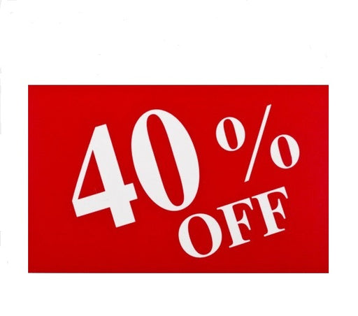 40% Off Counter Top Easel Sign