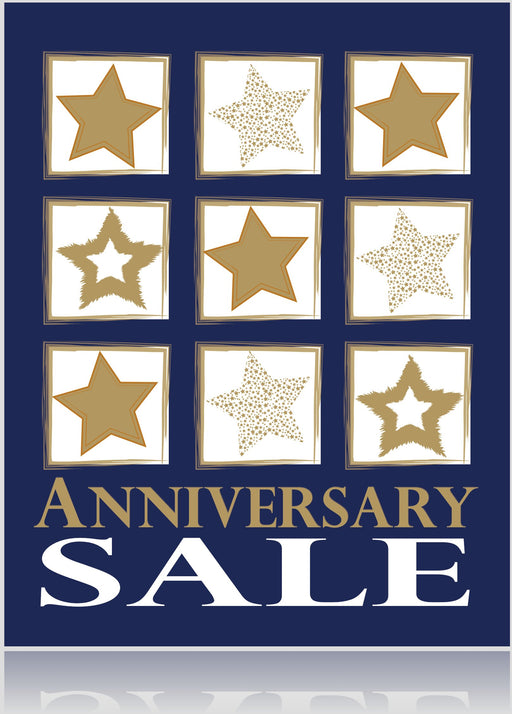 Anniversary Sale Window Signs Poster