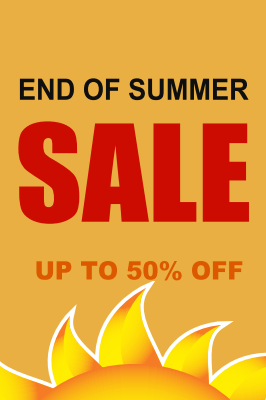 End of the Summer Sale easel sign