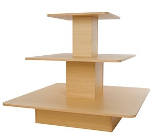 3-Tier Retail Display Square Table