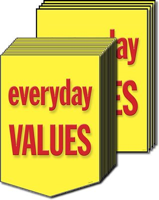 Everyday Values Sale Event Sign Kit-12 pieces