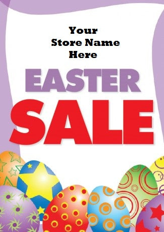 "Easter Sale Window Sign Poster-Semi Custom -36"" W x 48"" H"