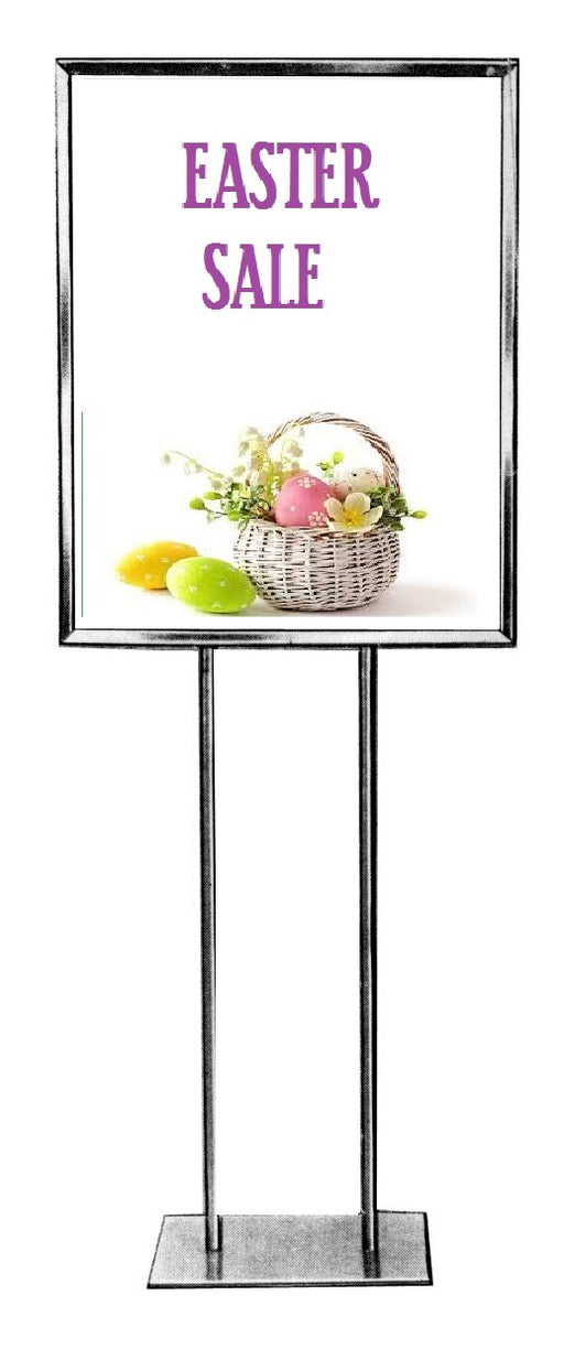 Easter Sale Floor Stand-Stanchion Sign-Basket