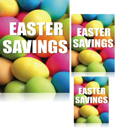 Easter Savings retail promotional sale event sign kit