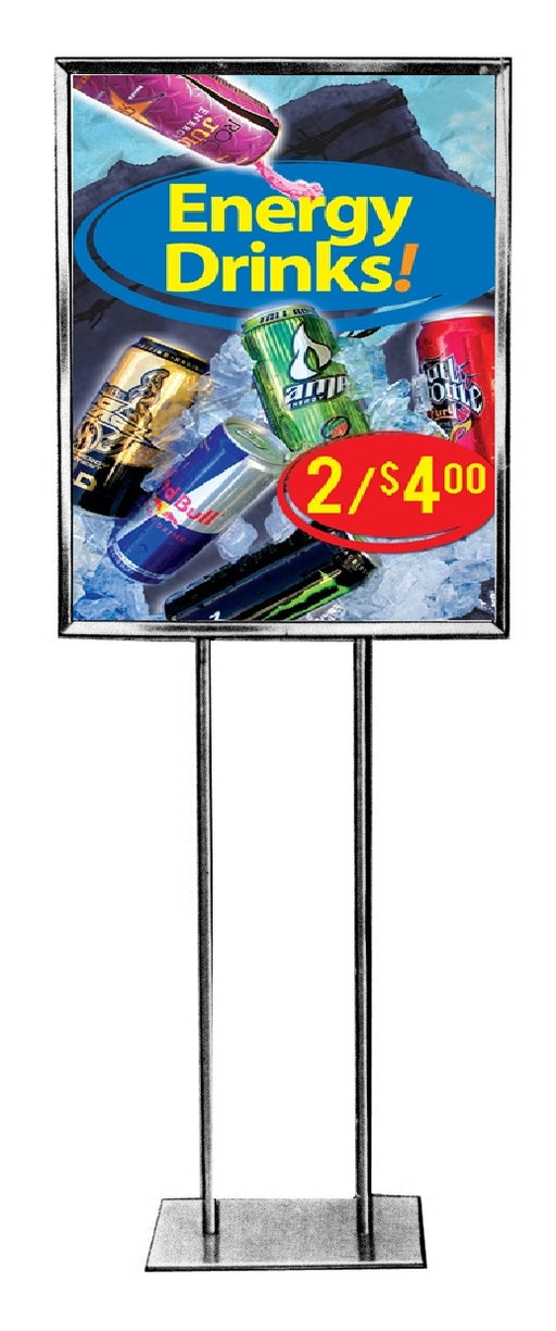 Energy Drinks Floor Stand Stanchion Signs