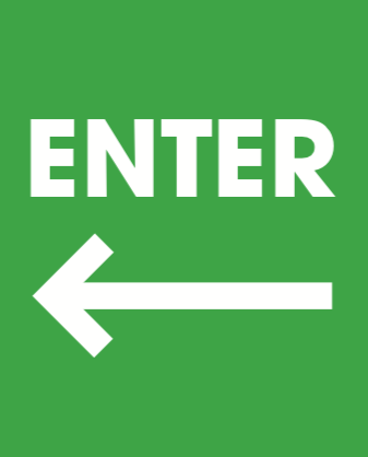 Enter Arrow Sidewalk A Frame Sign Insert