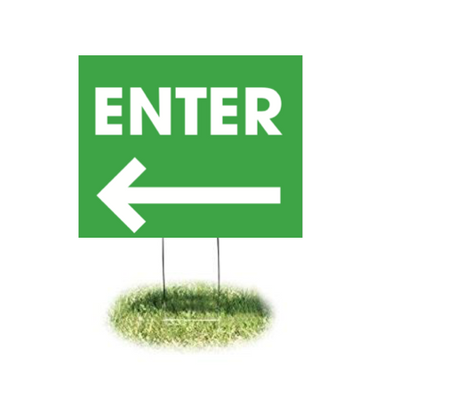 "Enter Arrow Lawn Yard Signs-24"" x 18"""