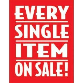 "Every Item on Sale Window Signs Poster-36"" W x 48"" H"