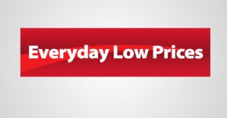"Everyday Low Price Hanging Sign Ceiling Dangler-36"" W x 18"" H"