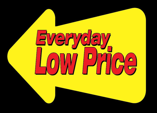 Everyday Low Price Aisle Violators Shelf Signs-Black