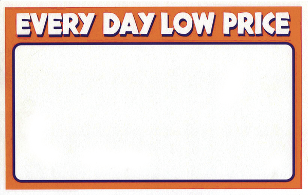 "Everyday Low Price Shelf Signs-11""W x 7""H Laser Compatible-100 signs"