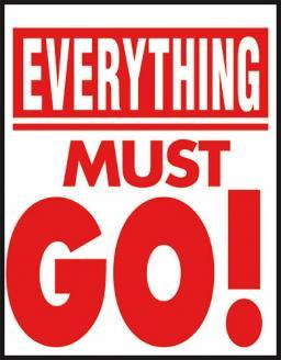 "Everything Must Go Window Signs Poster-36"" W x 48"" H"