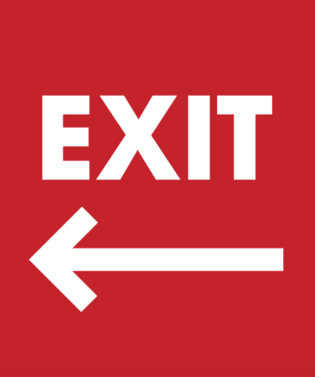 Exit Arrow Sidewalk A Frame Sign Insert