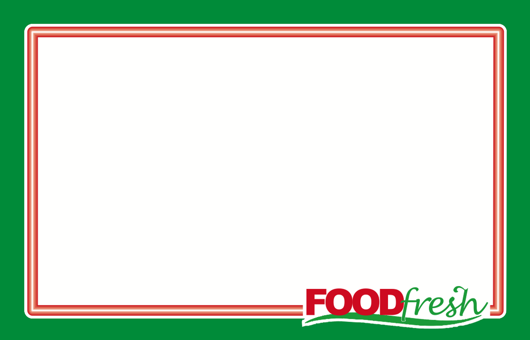 "Food Fresh Shelf Signs Produce- Laser Compatible 11""W x 7""H -100 price signs"