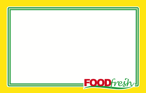 "Food Fresh Grocery Shelf Signs- Laser Compatible 11""W x 7""H- 100 price signs"
