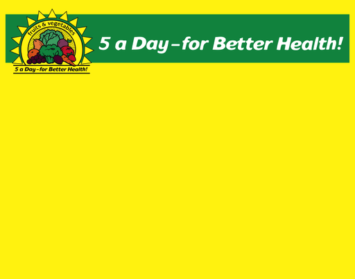 "5-A-Day Produce Shelf Signs Price Cards-Yellow-7"" W x 5.5"" H-100 signs - screengemsinc"