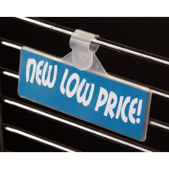 "Price Tag Labels Holders for Wire Fixtures- 1.25"" H x 2""L- 250 per pack"
