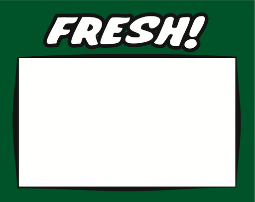 "Fresh Produce Shelf Signs 7""W x 5.5""H -100 price signs"