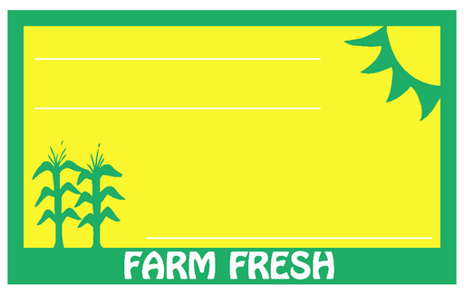 "Farm Fresh Produce Shelf Signs 7""W x 5.5""H -100 price cards - screengemsinc"