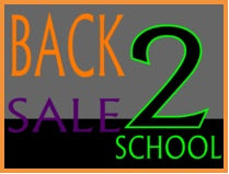 "Back to School Sale Standard Poster Floor Stand Stanchion Sign -22"" x 28"""