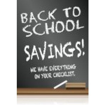 "Back to School Savings Standard Poster Stanchion Sign-22"" x 28"""