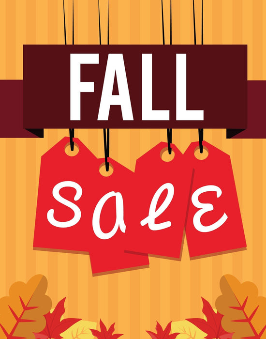 Fall Sale Standard Poster-Floor Stand Stanchion Sign