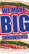 Big Sandwiches Floor Stand Stanchion Sign