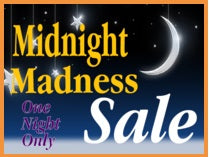 "Midnight Madness Sale Standard Poster-Floor Stand Sign-22""x 28"""