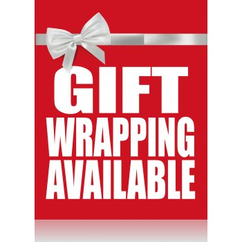 Gift Wrapping Available Standard Poster- Floor Stand Sign