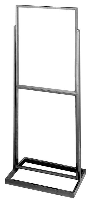 Floor Stand Stanchion Sign Holder-Double Tier