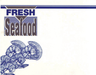 "Fresh Seafood Shelf Signs-7""W x 5.5""H-100 price signs - screengemsinc"