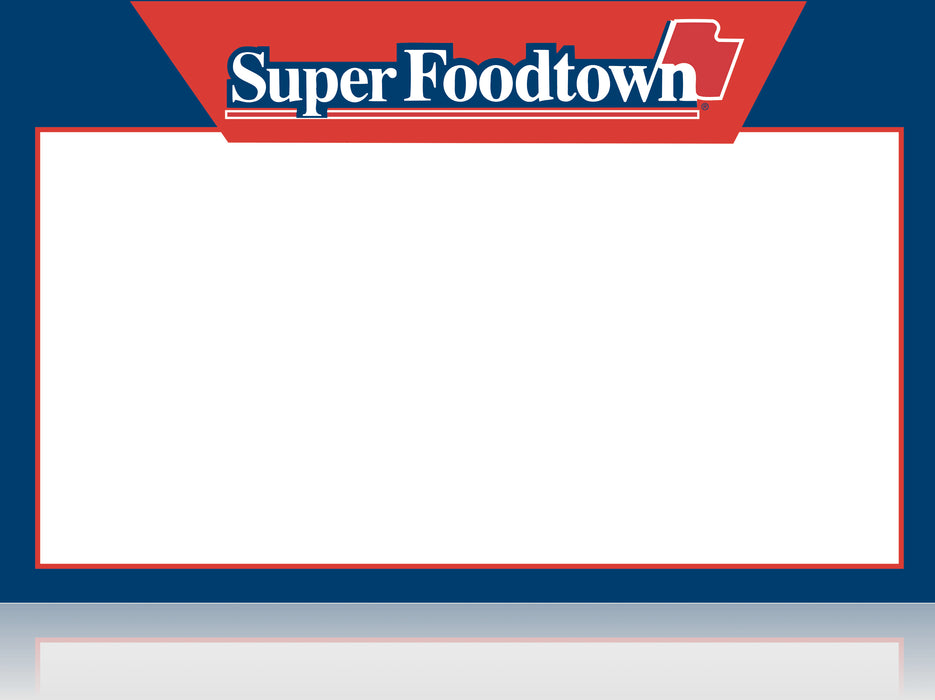 Super Foodtown Shelf Signs- Laser Compatible