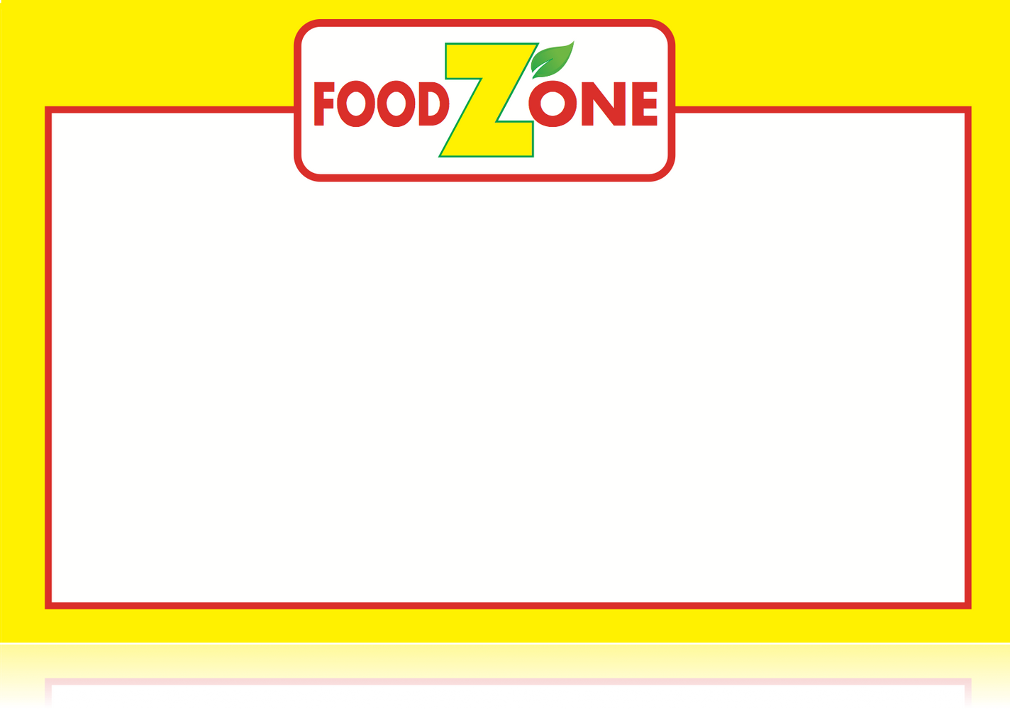 "Food Zone Supermarket Shelf Signs-Price Cards -11"" W x 8.5"" H -100 signs"