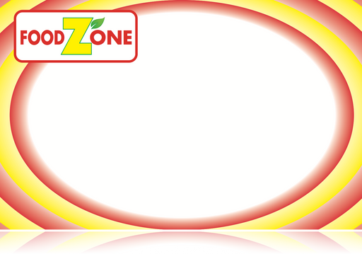 "Food Zone Supermarket Shelf Signs-Price Cards-Circle -5.5"" W x 3.5"" H -100 signs"