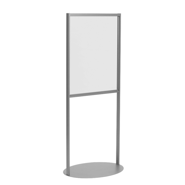 Floor Stand Stanchion Sign Holder-Oval Base